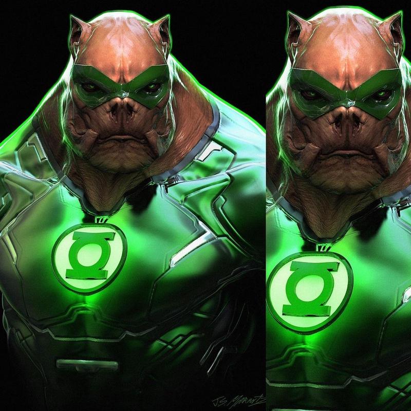 green lantern en la zsjl
